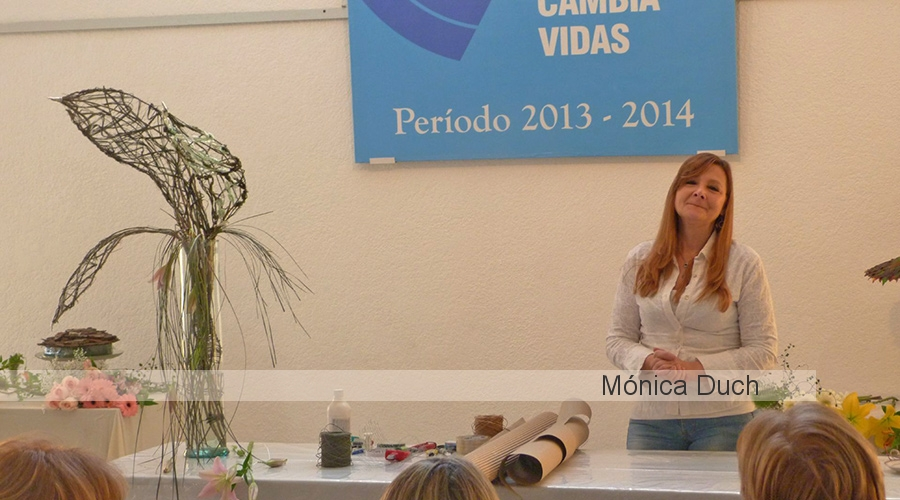 Workshop Internacional de Arte Floral by Monica Duch - Demostración en Uruguay