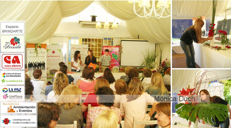 WORKSHOP Y CONFERENCIA EN  LINCOLN by MONICA DUCH ARTE FLORAL ARGENTINA